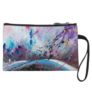 Abstract Art - Vale Wristlet Wallet
