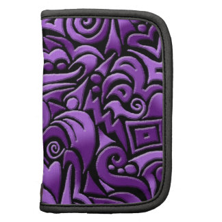 abstract art violet planner folio