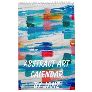 Abstract Art Wall Calendar by Janz