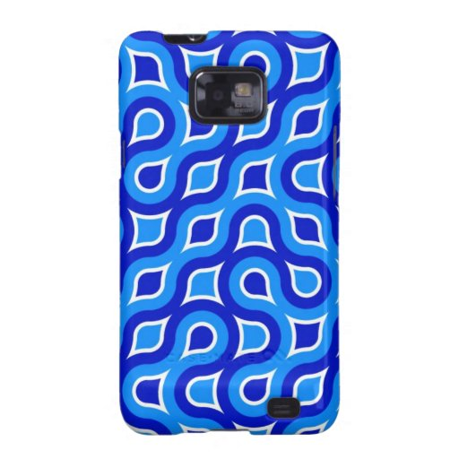 Abstract Art Waves, Blue Colors, Shapes Style Fash Galaxy SII Case
