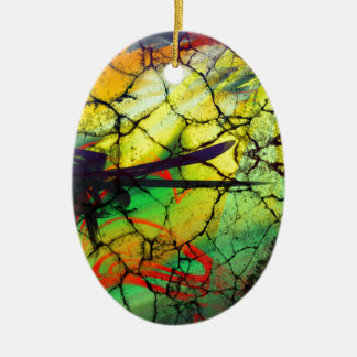 Abstract Art - Web of Lies Ceramic Ornament