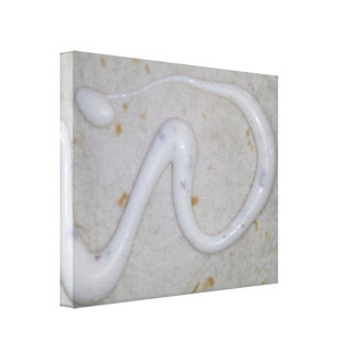 Abstract Art white with offset cream color. Canvas Print