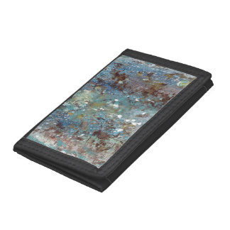 Abstract Art - Wild Growth Trifold Wallets