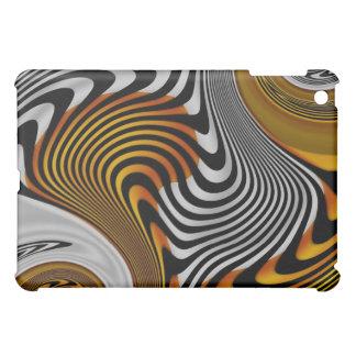 Abstract Art Wild Twist Gold Black Case For The iPad Mini