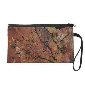 Abstract Art - Wildfire Wristlet