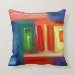 Abstract art, windows. pillow