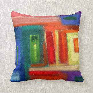 Abstract art, windows. throw pillow