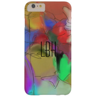 Abstract Art with Custom Monogram Barely There iPhone 6 Plus Case
