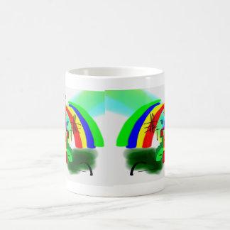 abstract art with donkey1 coffee mug