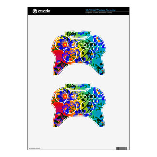 Abstract Art With Flowers Xbox 360 Controller Decal
