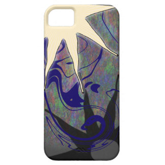 Abstract Art with Wobbly White Star for iPhone 5 iPhone SE/5/5s Case