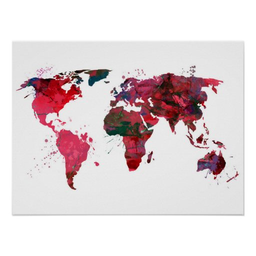 original abstract world map - photo #41