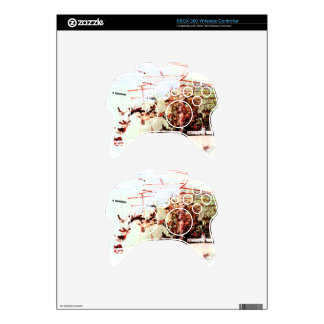 Abstract art xbox 360 controller skin