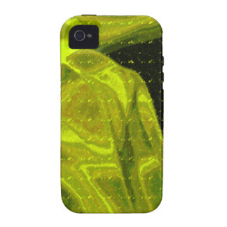 Abstract Art Yellow Smoke Vibe iPhone 4 Cases