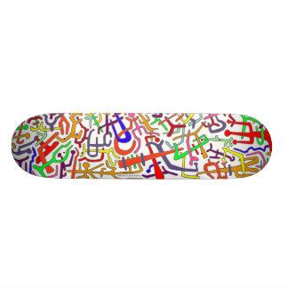 ABSTRACT ARTBOARD (white backround) Skateboard