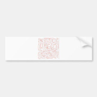 Abstract Artist Design Car Bumper Sticker