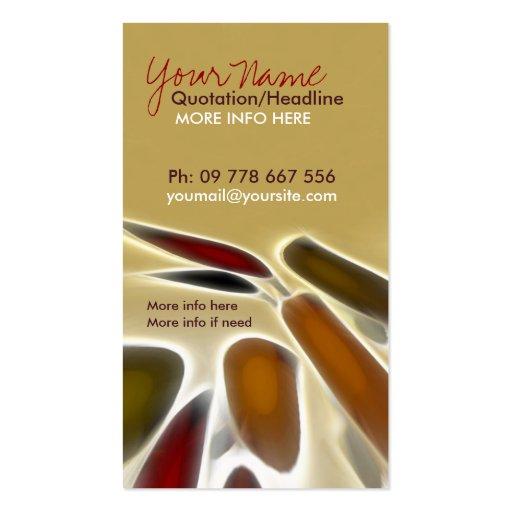 Abstract Artist Vertical Business Card