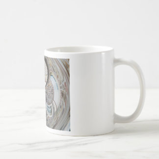 Abstract artistic background of rural house coffee mug