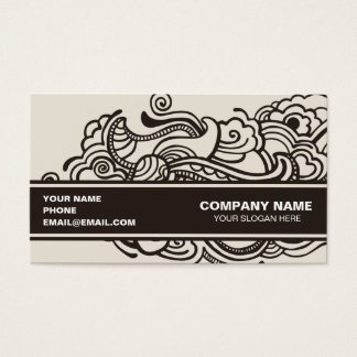 Abstract artistic design business card