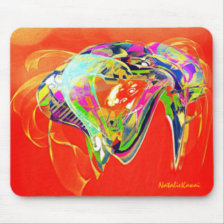 Abstract artistic Jelly Fish Mouse Pad