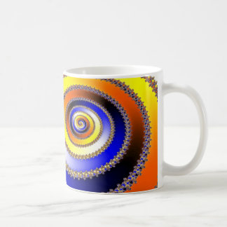 Abstract ARTs - Spiral blue yellow Coffee Mug