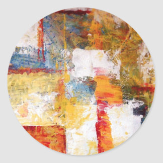 Abstract Artwork Classic Round Sticker