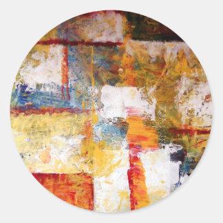 Abstract Artwork Classic Round Sticker