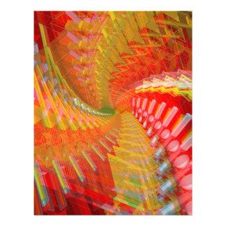 Abstract Artwork Customized Letterhead
