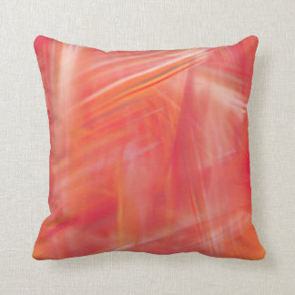 Abstract artwork red white and yellow throw pillow