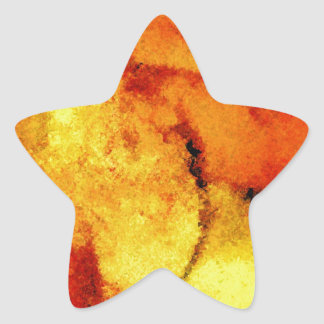 Abstract Artwork Star Sticker