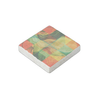 Abstract artwork stone magnet
