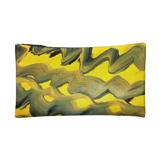 Abstract artwork themed bagettes bag. makeup bag