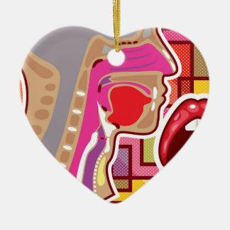 Abstract Artwork Throat n Nose diagram Ceramic Ornament