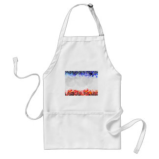 Abstract Artwork with Blue and Red Circles Adult Apron