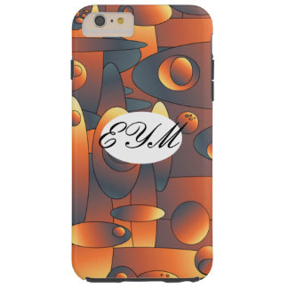 Abstract artwork with monogram tough iPhone 6 plus case