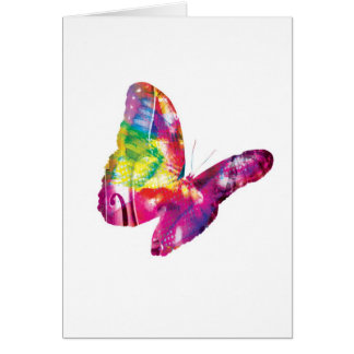 Abstract Arty Greetings Card - Butterfly
