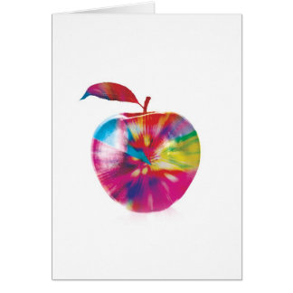 Abstract Arty Greetings Card - Coloured Apple