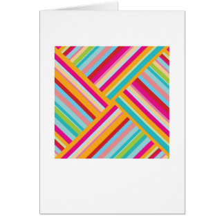 Abstract Arty Greetings Card - Coloured Stripes