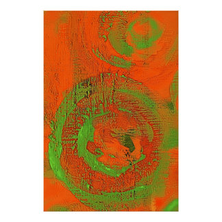 Abstract Asian Query Green Poster