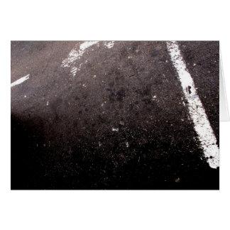 Abstract asphalt card