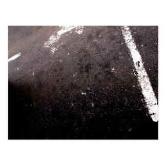 Abstract asphalt postcard