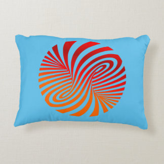 Abstract Attract Radiate Red Accent Pillow