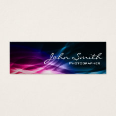 Abstract Aurora Photographer Mini Business Card at Zazzle