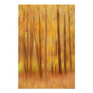abstract autumn beauty poster