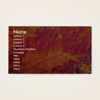 Abstract Autumn Business Card