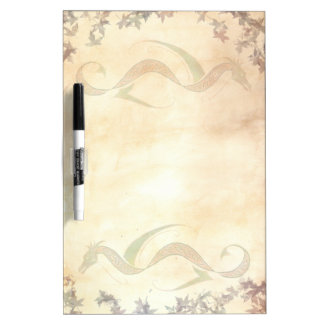 Abstract Autumn Celtic Knot Dragon Dry Erase Board