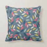 Abstract Autumn Inspired Leaves Pattern Pillows