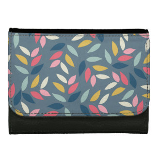 Abstract Autumn Inspired Leaves Pattern Wallet