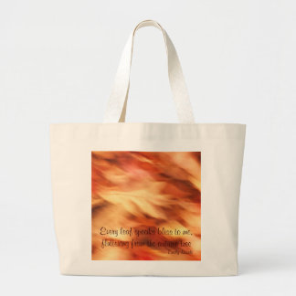 Abstract Autumn Leaves Tote Bags