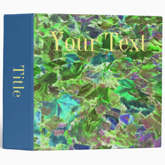 Abstract Autumn Leaves Binder